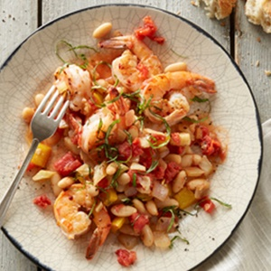 Shrimp and White Bean Provencal